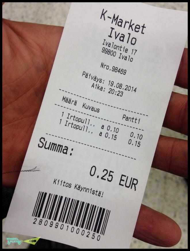Автомат выдает чек, с которым на кассе у вас будет уменьшена сумма покупки