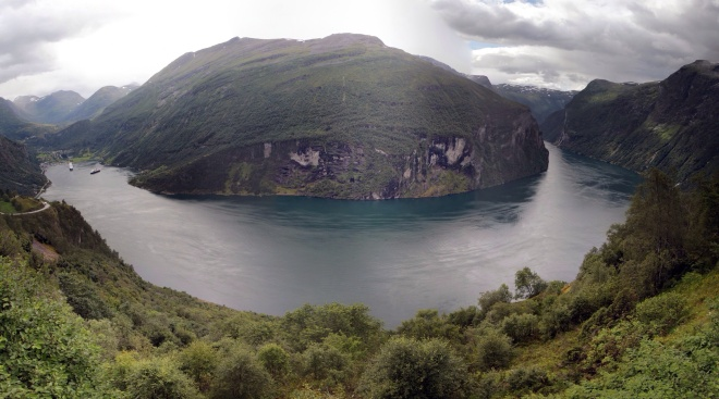 Панорама фьорда Гейрангер.2011 г.