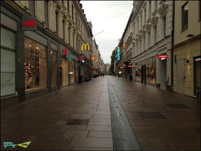 Улочки города, выходной день