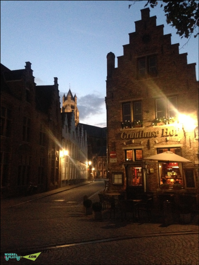 Улочки вечернего Брюгге