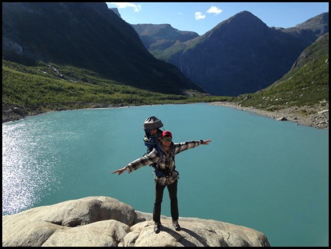мы на леднике Бриксдал в Норвегии