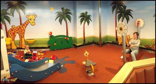Детская площадка на пароме из Дании в Германию.