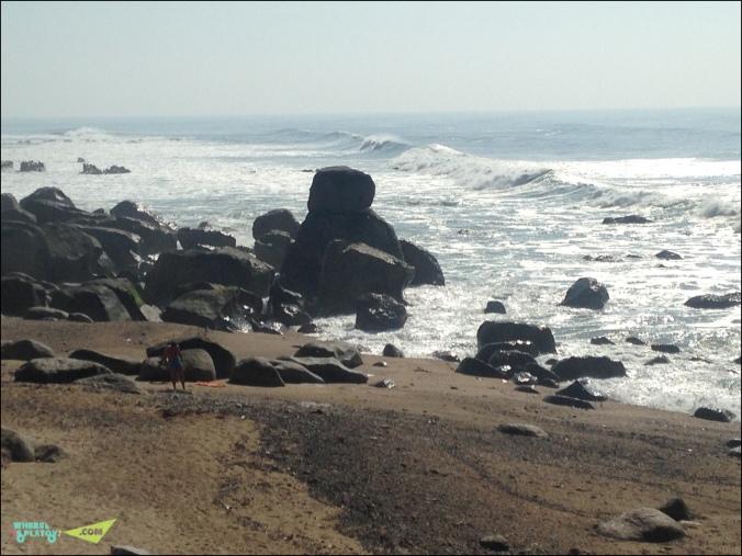 Океанские легенькие волны.