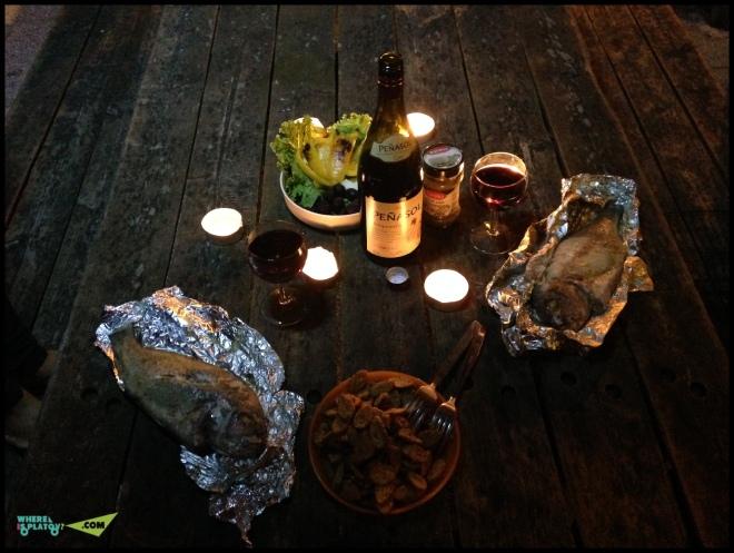 Романтический ужин - это вот так.