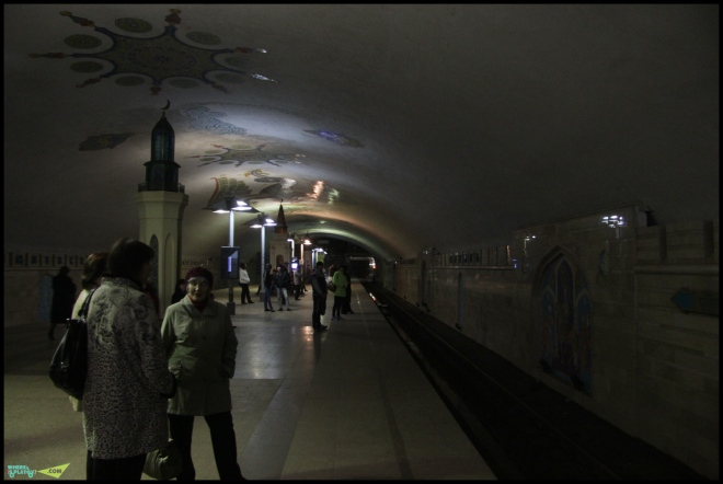 Новое метро в Казани. Чистенько.